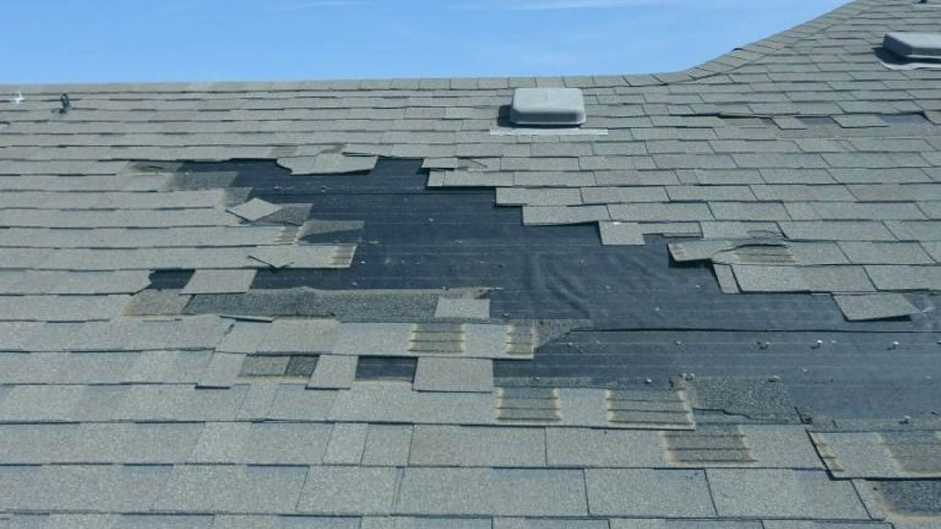 Storm And Wind Damage Roof Repair Shingle Roofing Installation
